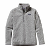 Patagonia Womens Better Sweater Quarter Zip Fleece Birch White