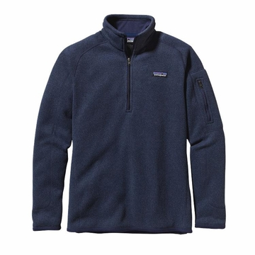 Patagonia Womens Better Sweater Quarter Zip Fleece Classic Navy