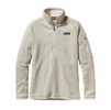 Patagonia Womens Better Sweater Quarter Zip Fleece Raw Linen
