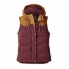 Patagonia Womens Bivy Down Hooded Vest Dark Ruby
