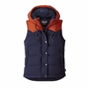 Patagonia Womens Bivy Down Hooded Vest Navy Blue