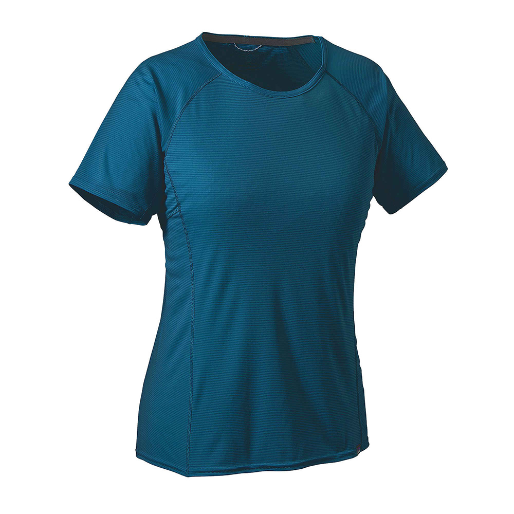 patagonia womens capilene lightweight t shirt big sur blue. Black Bedroom Furniture Sets. Home Design Ideas