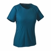 Patagonia Womens Capilene Lightweight T-Shirt Big Sur Blue