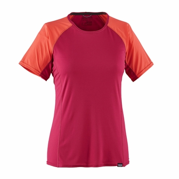 Patagonia Womens Capilene Lightweight T-Shirt Craft Pink
