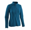 Patagonia Womens Capilene Lightweight Zip-Neck Big Sur Blue