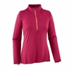 Patagonia Womens Capilene Lightweight Zip-Neck Craft Pink