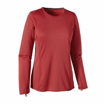 Patagonia Womens Capilene Midweight Crew Classic Red/ Sumac Red X-Dye
