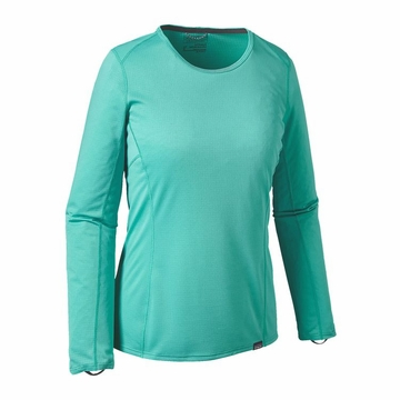 Patagonia Womens Capilene Midweight Crew Howling Turquoise