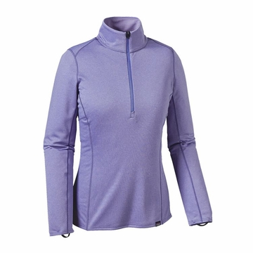 Patagonia Womens Capilene Midweight Zip-Neck Violet Blue/ Poly Purple