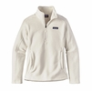 Patagonia Womens Classic Synchilla Fleece Marsupial Pullover Birch White