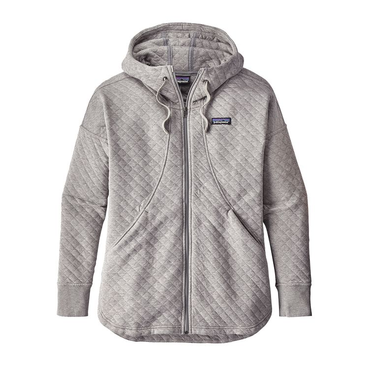 Patagonia Women S Quilted Jacket: Patagonia Womens Cotton Quilt Hoodie Drifter Grey (close Out