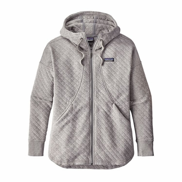 Patagonia Womens Cotton Quilt Hoodie Drifter Grey