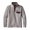 Patagonia Womens Cotton Quilt Snap-T Pullover Drifter Grey/ Dark Ruby
