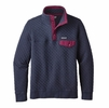 Patagonia Womens Cotton Quilt Snap-T Pullover Navy Blue