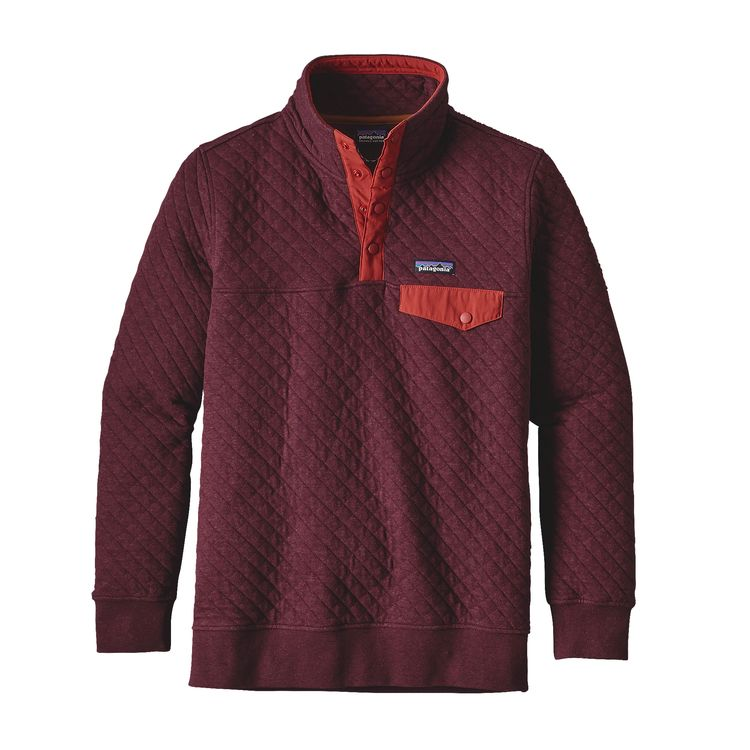 Patagonia Womens Cotton Quilt Snap-T Pullover Violet Red
