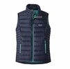 Patagonia Womens Down Sweater Vest Navy Blue/ Strait Blue