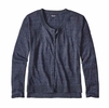 Patagonia Womens Lightweight Linen Cardigan Navy Blue