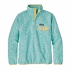 Patagonia Womens Lightweight Synchilla Snap-T Fleece Pullover Batik Hex Big: Bend Blue