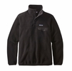Patagonia Womens Lightweight Synchilla Snap-T Fleece Pullover Black w/ Black