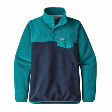 Patagonia Womens Lightweight Synchilla Snap-T Fleece Pullover Elwha Blue