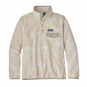 Patagonia Womens Lightweight Synchilla Snap-T Fleece Pullover Valley Flora: Ecru