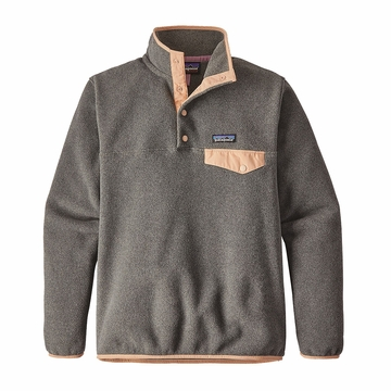 Patagonia Womens Lightweight Synchilla Snap-T Fleece Pullover Nickel/ Rosewater