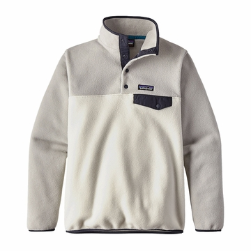 Patagonia Womens Lightweight Synchilla Snap-T Fleece Pullover Birch White