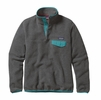 Patagonia Womens Lightweight Synchilla Snap-T Fleece Pullover Nickel w/ Epic Blue