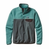 Patagonia Womens Lightweight Synchilla Snap-T Fleece Pullover Nouveau Green