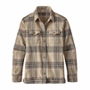 Patagonia Womens Long-Sleeve Fjord Flannel Shirt Big Sky Plaid: Mojave Khaki