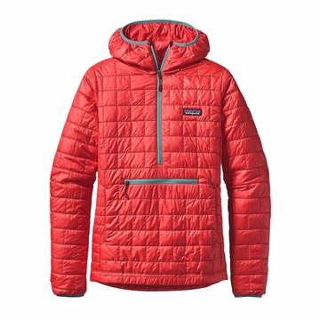Patagonia Womens Nano Puff Bivy Pullover French Red