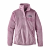 Patagonia Womens Re-Tool Snap-T Fleece Pullover Dragon Purple/ Light Violet X-Dye