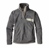 Patagonia Womens Re-Tool Snap-T Fleece Pullover Feather Grey/ Ink Black X-Dye