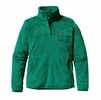 Patagonia Womens Re-Tool Snap-T Fleece Pullover Impact Green w/ Impact Green X-Dye
