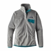 Patagonia Womens Re-Tool Snap-T Fleece Pullover Tailored Grey/ Nickel X-Dye with Elwha Blue