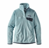 Patagonia Womens Re-Tool Snap-T Fleece Pullover Tubular Blue: Tubular Blue X-Dye