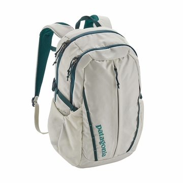 Patagonia Womens Refugio Pack 26L Birch White w/ Tidal Teal