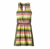 Patagonia Womens West Ashley Dress Fitz Stripe Micro: Hemlock Green