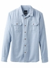 Prana Mens Cardston Long Sleeve Island Blue