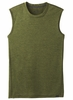 Prana Mens Hardesty Sleeveless Fern Green Stripe