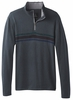 Prana Mens Holberg 1/4 Zip Sweater Coal