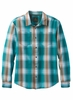 Prana Mens Holton Plaid Long Sleeve Cast Blue