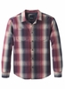 Prana Mens Holton Plaid Long Sleeve Dark Plum