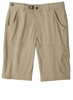 Prana Mens Stretch Zion Short Dark Khaki