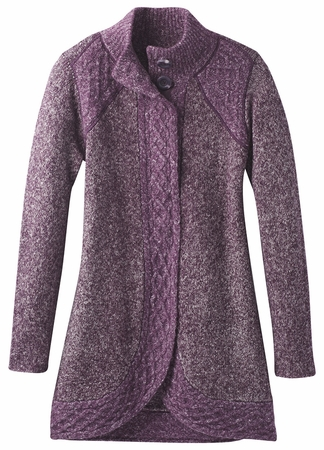 Prana Womens Angelica Duster Dark Plum