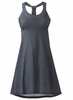 Prana Womens Cali Dress Charcoal Botanica