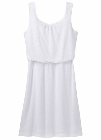 Prana Womens Mika Dress White Copa  (close out)