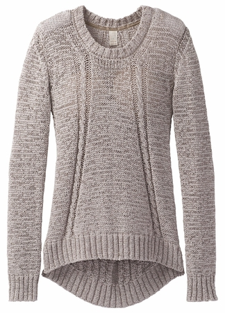 Prana Womens Monique Sweater Cobblestone  (close out)