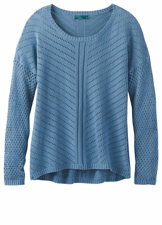 Prana Womens Parker Sweater Dusty Skies  (close out)