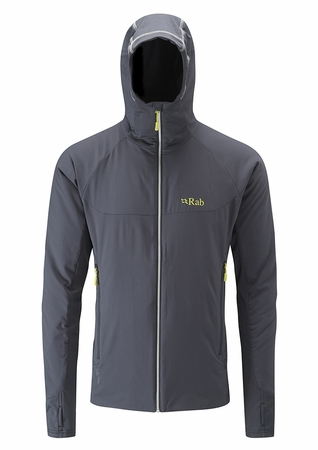 Rab Mens Alpha Flux Jacket Beluga/ Ash